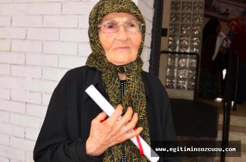 Hacer Nine 84 yaşında okuma-yazma öğrendi