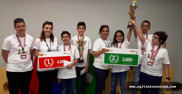 """""""Hackidhon"""" Robotik Kodlama Yarışmasında Oğuzkaan Koleji' Türkiye Birincisi"""
