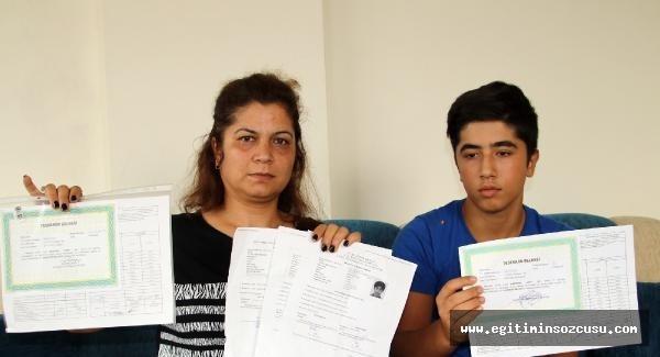 6, 7 ve 8'inci sınıfta teşekkür belgesi aldı, liseye yerleşemedi