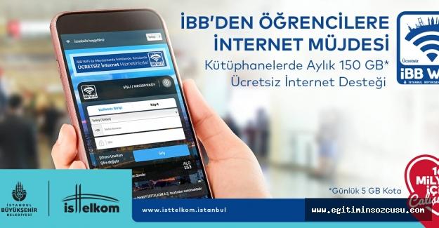 İBB öğrencilere internet desteğini aylık 150 GB'ye çıkartıyor