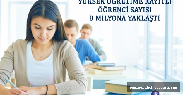 Yüksek Öğretim öğrenci sayısı 8 milyona yaklaştı