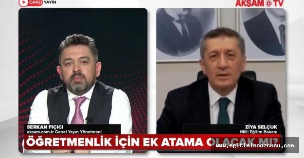 Bakan Selçuk, Öğretmen atamalarına AKP dönemi(!) vurgusu