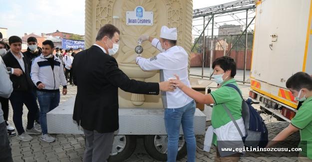 Eyüpsultan'da öğrencilere çorba ikramı
