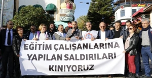 'Eğitimcilere saldırı' protesto edildi